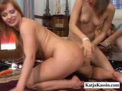 Katja Kassin – Raunchy Lesbian Orgy