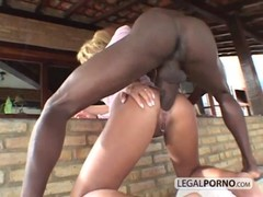 Two Big-ass Chicks Take Two Big Black Cocks In The Ass Gb-11-02